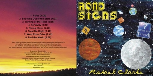album artwork / Michael Clarke - Road Signs