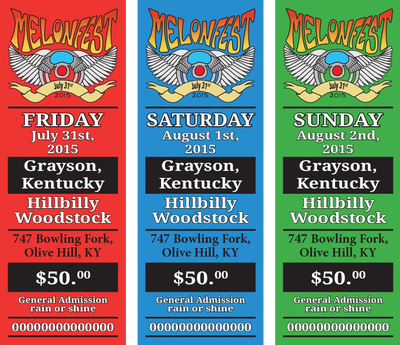 Melonfest 2014 Daily Tickets